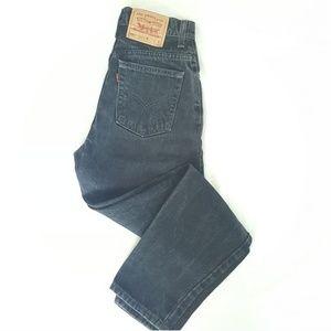 LEVI'S Vintage Black High Rise Tapered Mom Jeans 7